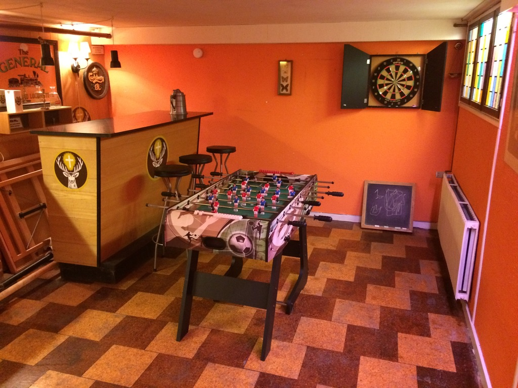 Basement -Table football and Dart