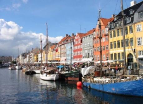 Cozy neighborhood in Copenhagen 45 minutes by train or car from the house.
