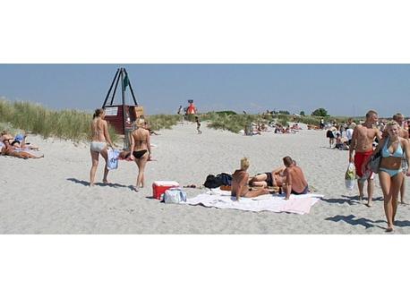 Stranden ved Køge 15 km fra huset.