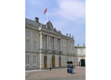 Amalienborg, the residence of the royal family.