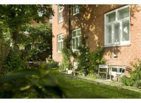 Private sunny garden.