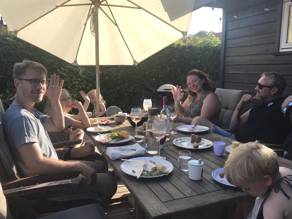 BBQ dinner on the terrace