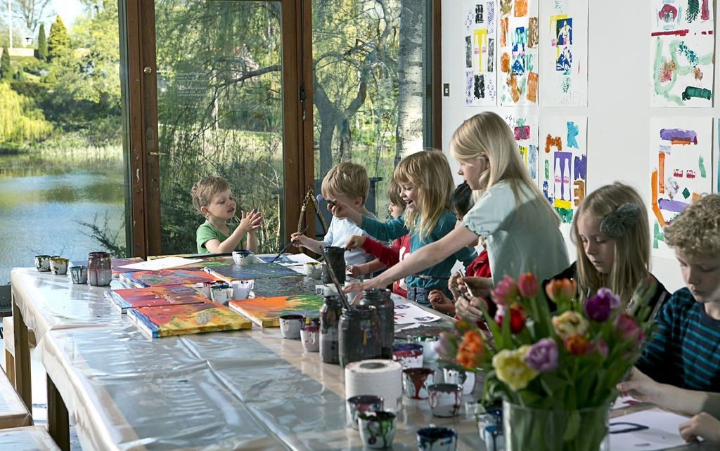 Louisiana Museum of Modern Art, Humlebæk (10 min), children can paint etc in the museum's workshop