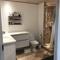 Bathroom 1 with toilet, shower and bathtub