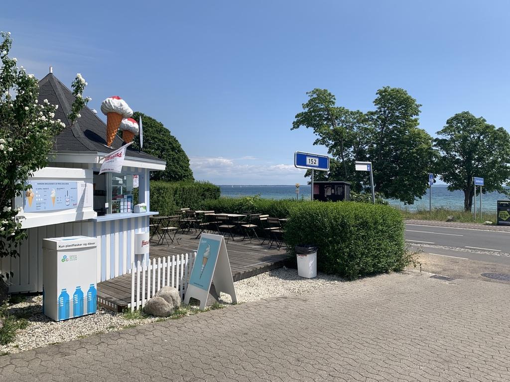 Our local ice cream parlour by the beach (5 min walk)