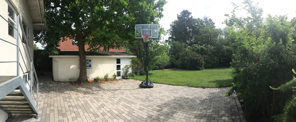 Basketball hoop in back