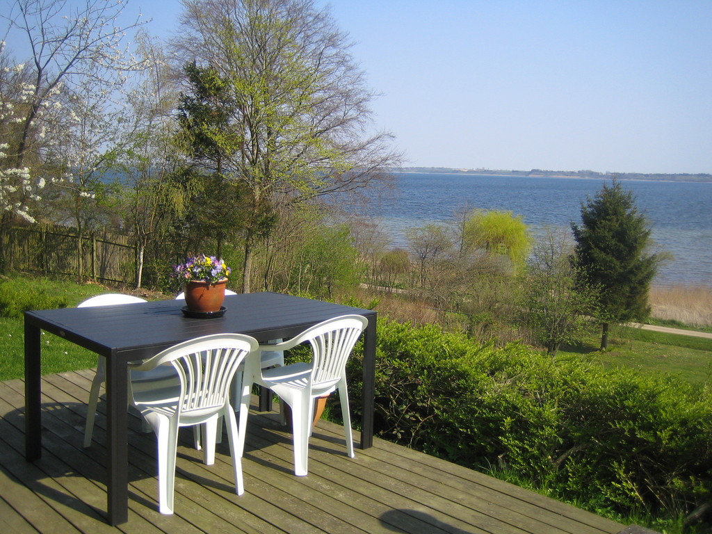 The terrace in the cottage