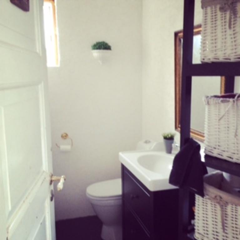 Toilet on the main floor