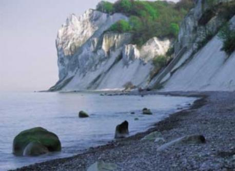 Spectalucar chalk cliffs on the island Mon 95 km. south of Koege