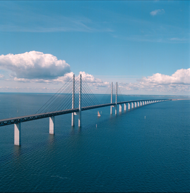 Sweden is only 45 minutes away via one of the Worlds largest bridge (Copenhagen/Malmö)