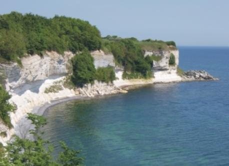 You can walk for 20 km on the walking path on the top of the cliffs of Stevns, 25 km east of Koege