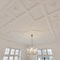 Stucco ceiling.