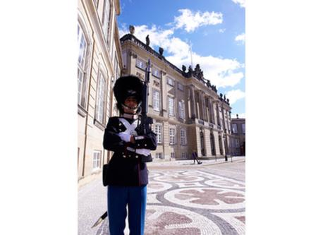 Guardsman outside the royal palace 'Amalienborg'