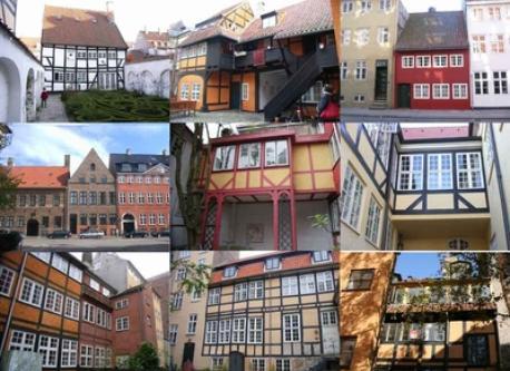 Old Danish houses in Copenhagen