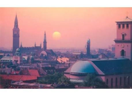 Copenhagen at sunset