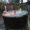 Hot tub in garden