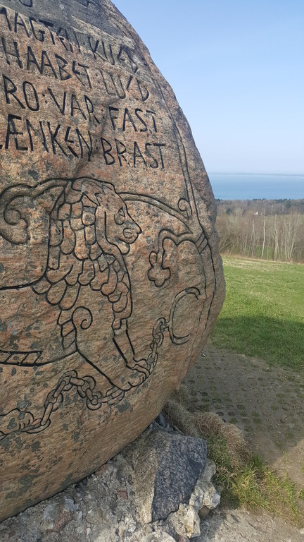 This stone was carried to the top of the hill by men 1920, 100 yeas ago. to commemorate the union with south Denmark