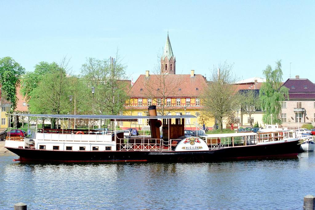 "The paddle steamer ""Hjejlen"" - 150 years old - you can go on a trip. Silkeborg"