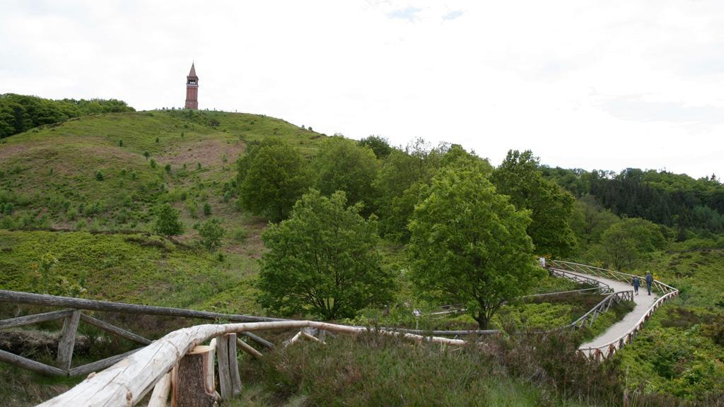 Big Hill. good wiev, you can go there by boat: Hjejlen. The highest place in Denmark.