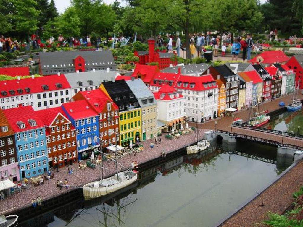 Legoland, all the buildings are in Lego. 50 km away