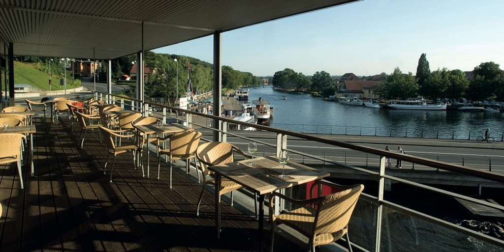 restaurant by the river, in SIlkeborg