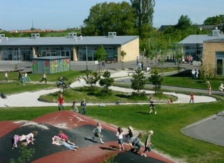 The playground at the nearby public school Trekroner Skole - one of many in the neighbourhood