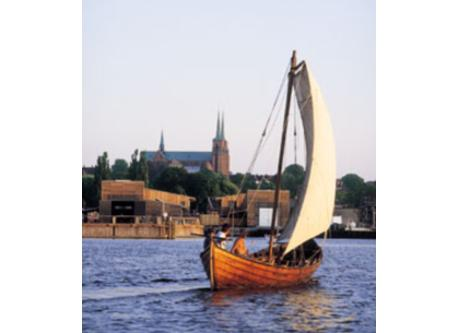 Sail on a viking ship