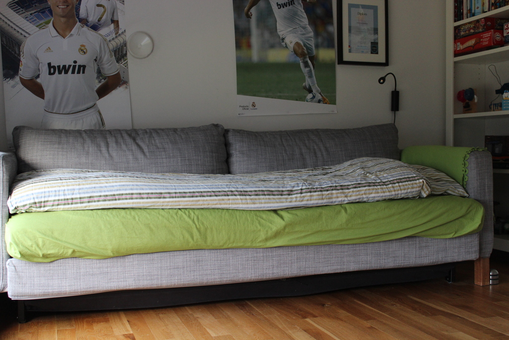 Lukas's sofabed can be transformed into a size 160x200