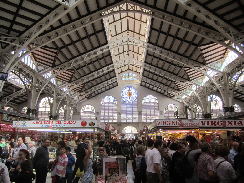 the mercado central, a jewel of pre-modernista architecture, where you can buy all food you need