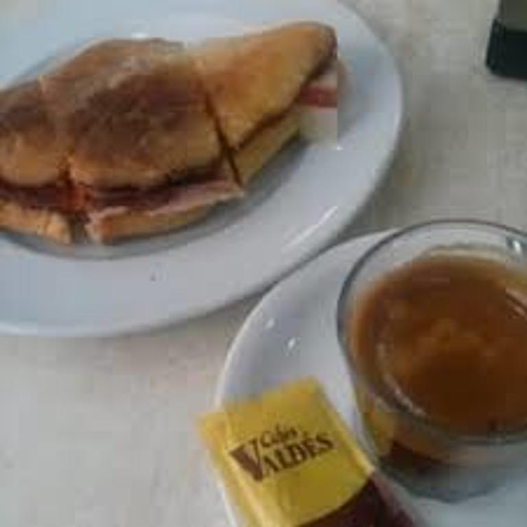 delicious breakfast 'con jamon' in one of the bars near home