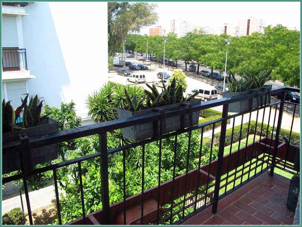 the balcony near the master bedroom