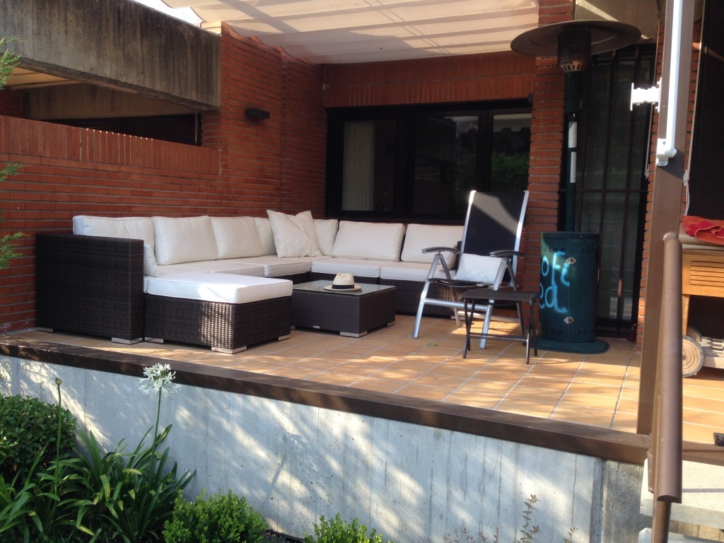 Outdoor terrace seating area