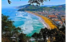 Panoramical view of ZARAUTZ