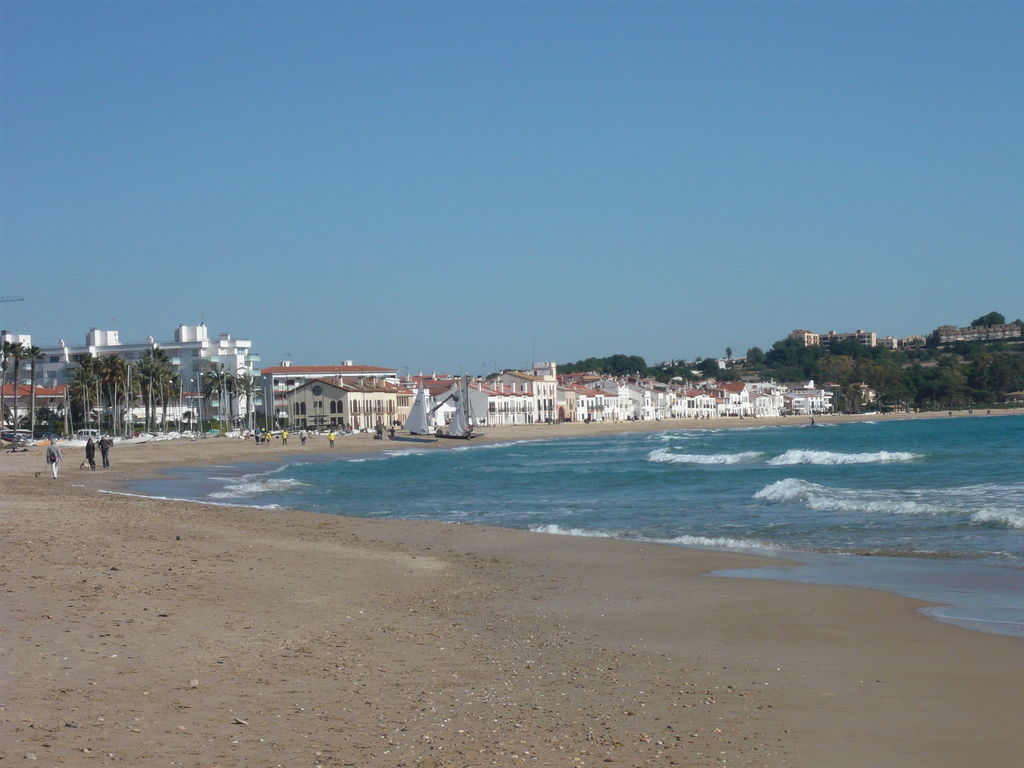 The beach in the winter