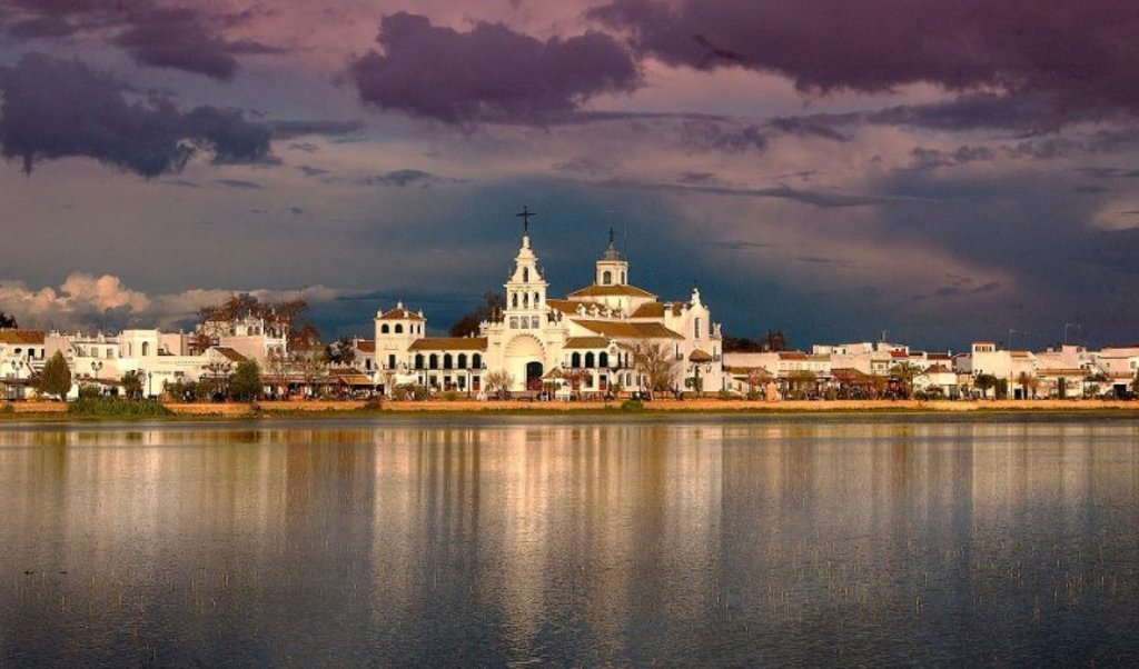El Rocio, a charming village 15 km. away that every spring becomes a pilgrimage destination