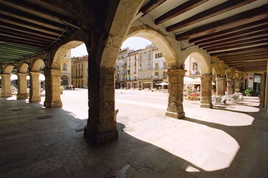 Igualada's city centre.