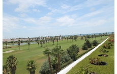 the golf course and the sea from our balcony