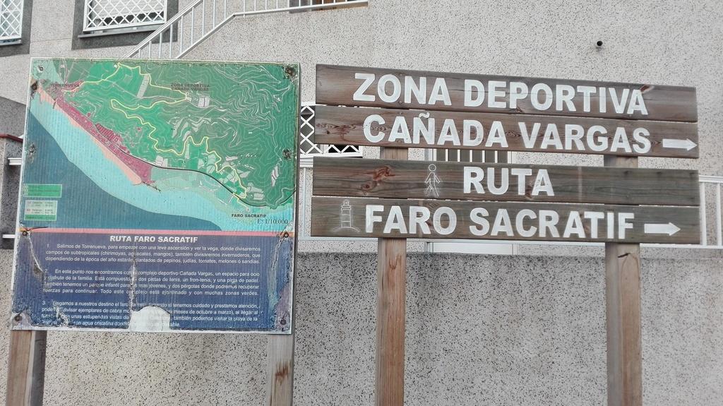 Comienzo de la ruta del Faro Sacratif, para dar paseos, y recorridos en bici.