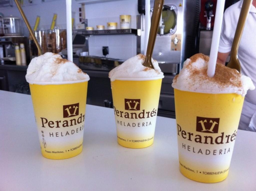 Leche Rizada un tipo de helado típico artesanal de aqui