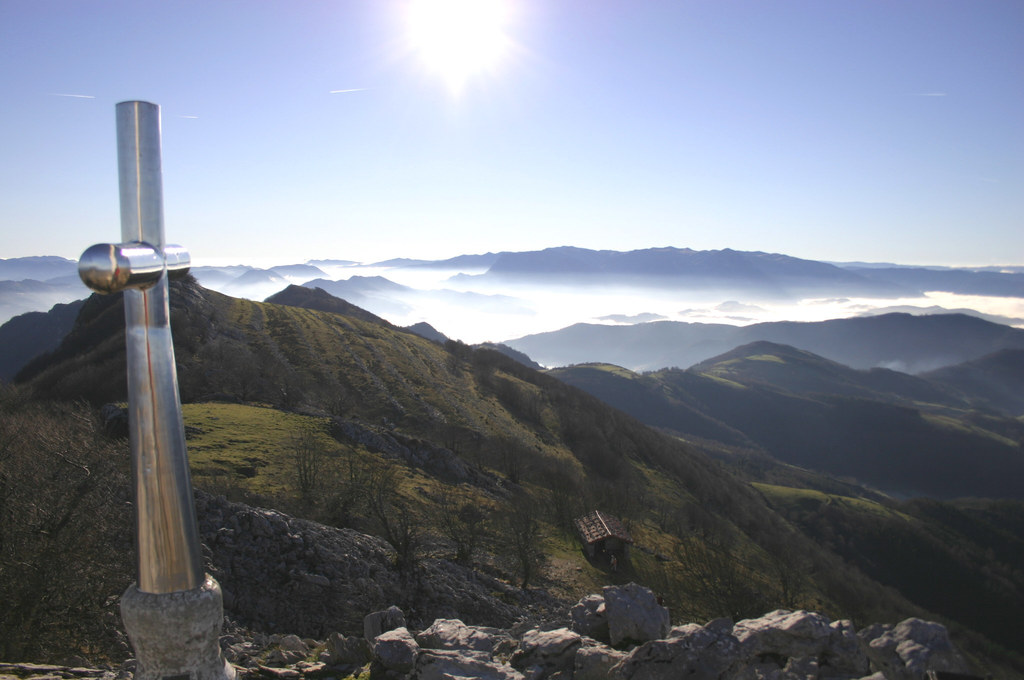 Summit of Ernio mountain.