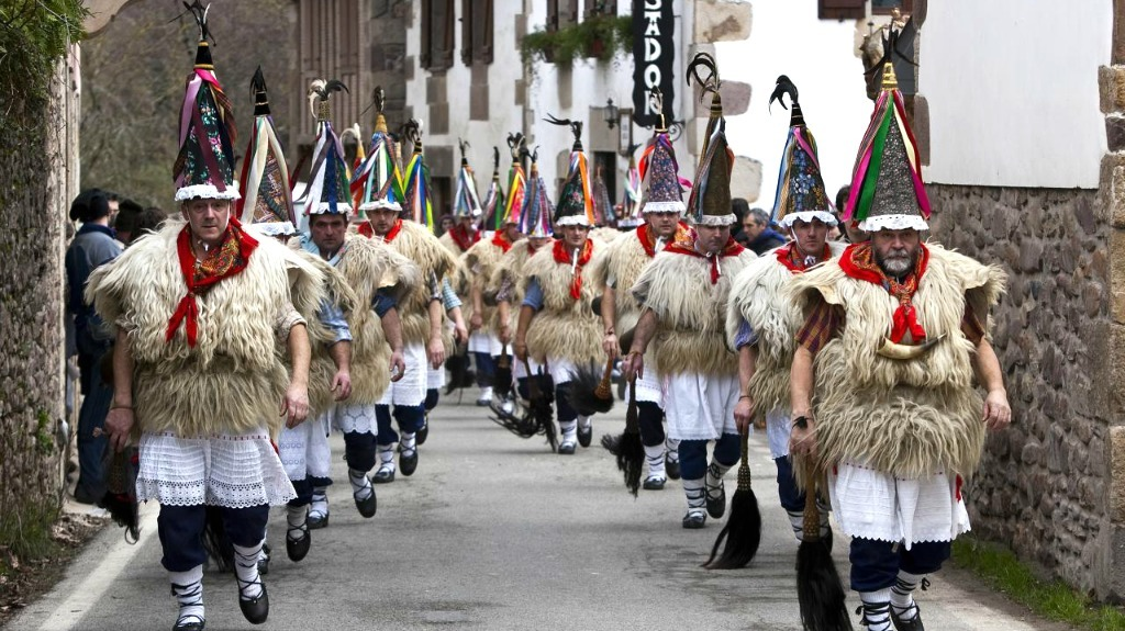 """Ioaldunak"" characters from the Basque rural carnival (northern Navarre)"