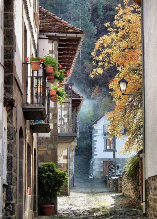 """Otsagabia"" small village of the Pyrenees of Navarre"