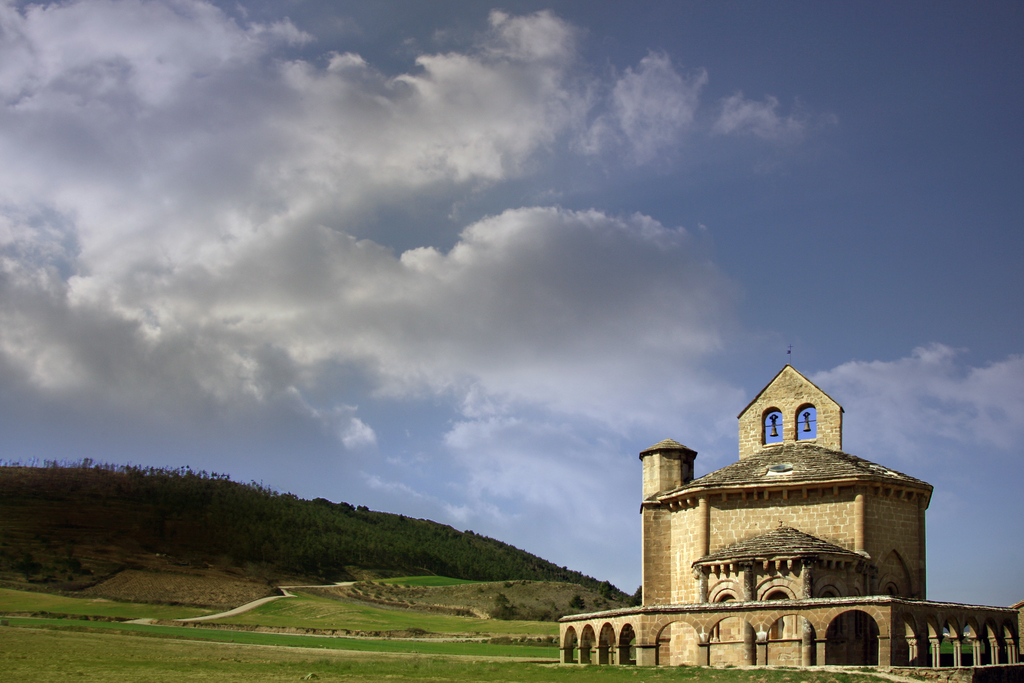 Romanesque chapel of the the Order of the Knights Templar (Eunate, Navarra center)