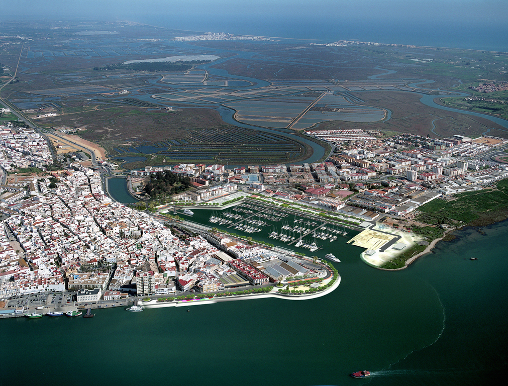 Aerial view of Ayamonte