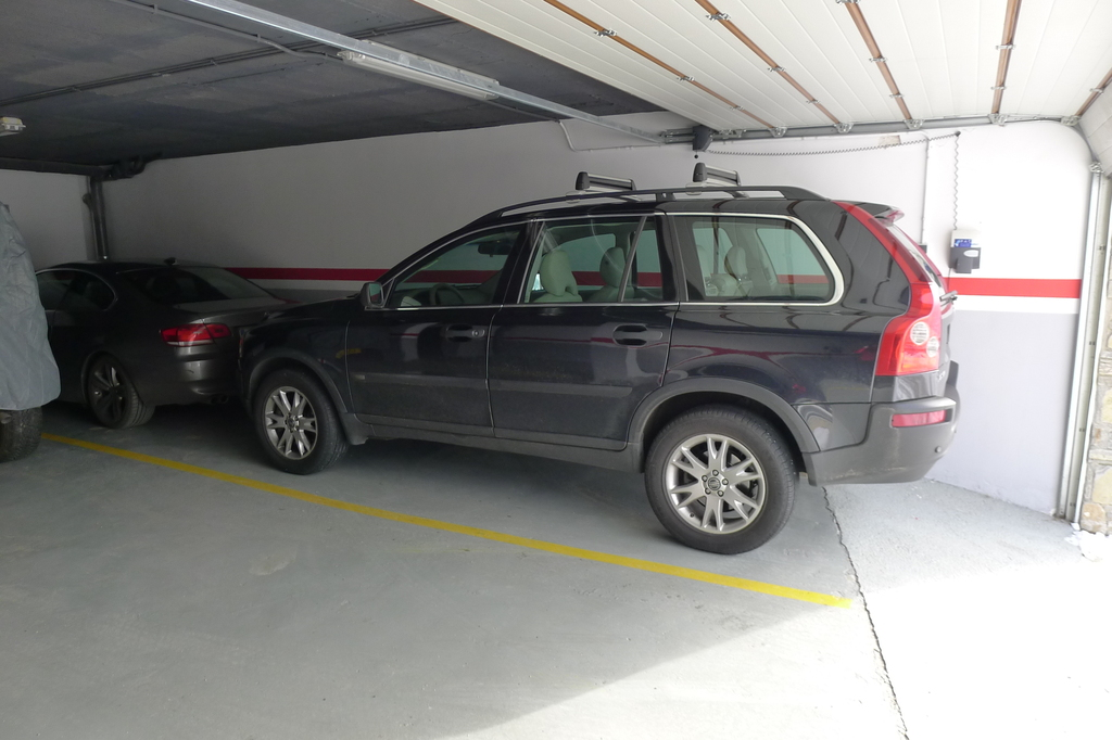 Inside garage sized for 2 large cars