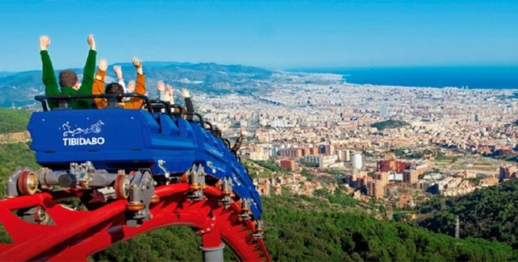 Tibidabo them park and sightseeing point in Barcelona. 20' drive.
