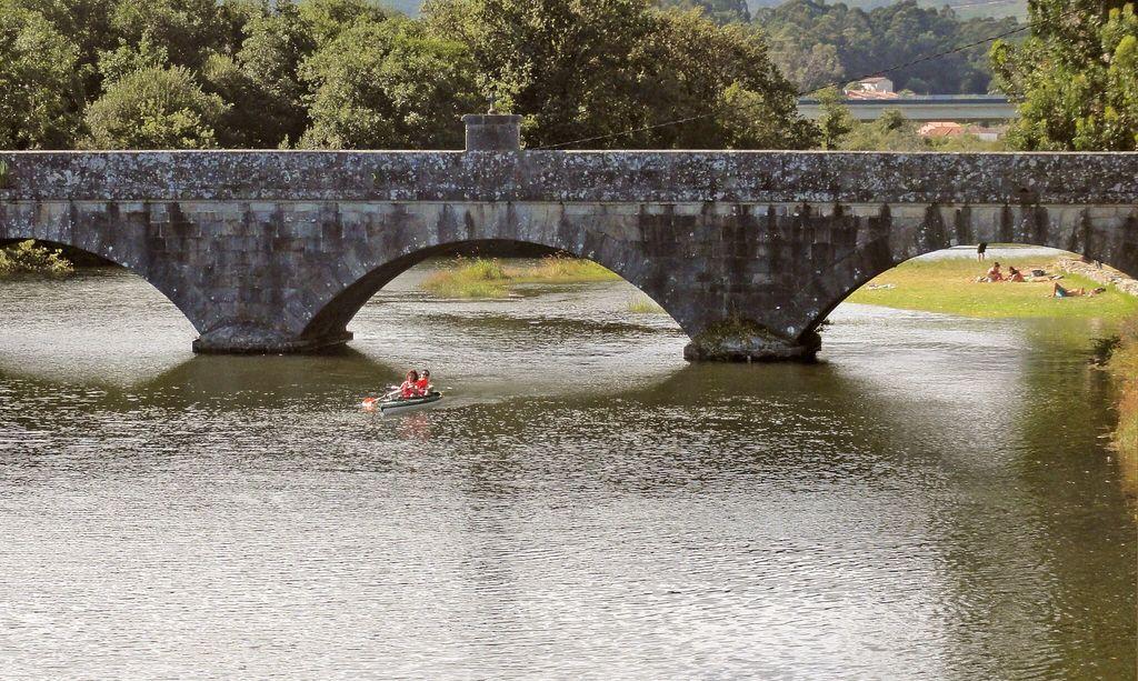 Río Tamuxe. 5 minutos andando.