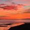 Sunset in Altafulla's beach