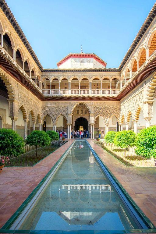 Real Alcázar de Sevilla, 20 min walk, 15 min in tramway