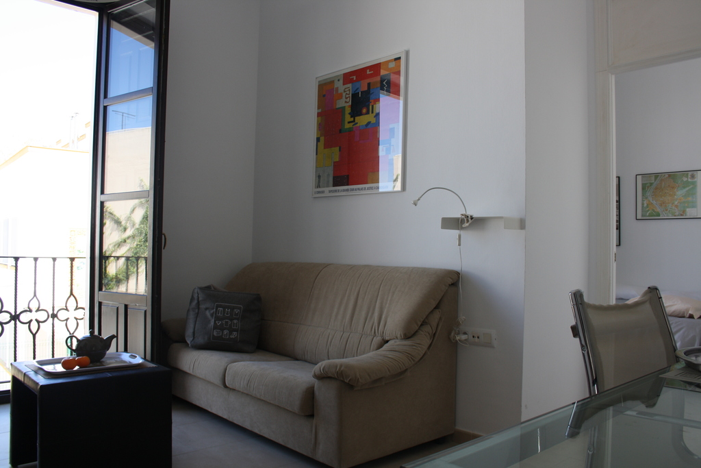 Living-room, view of sofa-bed